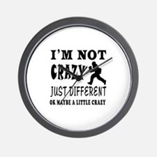 I'm not Crazy just different Paintball Wall Clock