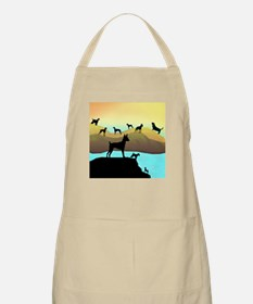 Many Dogs by the Sea BBQ Apron