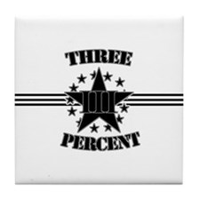 Three Percent Stars and Stripes Tile Coaster