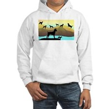 Many Dogs by the Sea Hoodie
