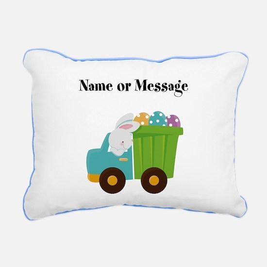Easter Bunny Dump Truck Pillow