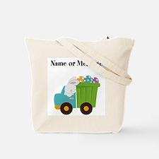 Easter Bunny Dump Truck Tote Bag