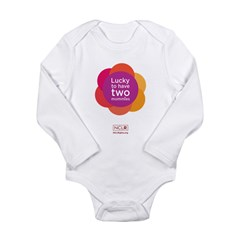 Lucky To Have Two Mommies Infant Body Suit