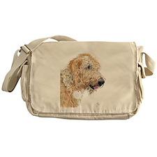 Cream Labradoodle 4 Messenger Bag