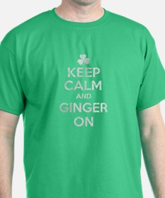 Keep Calm and Ginger On Vintage Fade Irish T-Shirt