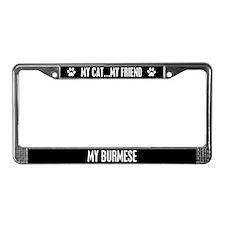 Burmese License Plate Frame