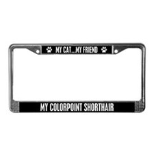 Colorpoint Shorthair License Plate Frame