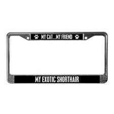 Exotic Shorthair License Plate Frame