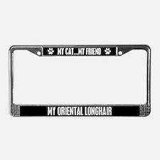 Oriental Longhair License Plate Frame