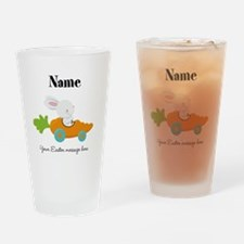 Personalized Easter Bunny Car Drinking Glass