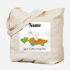 Personalized Easter Bunny Car Tote Bag