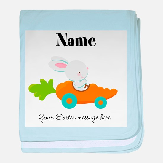 Personalized Easter Bunny Car baby blanket