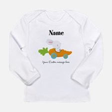 Personalized Easter Bunny Car Long Sleeve T-Shirt