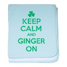 Keep Calm and Ginger On Irish baby blanket
