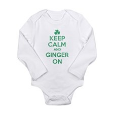 Keep Calm and Ginger On Irish Body Suit
