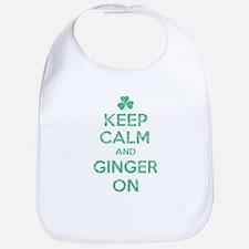 Keep Calm and Ginger On Irish Bib