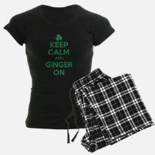 Keep Calm and Ginger On Irish Pajamas