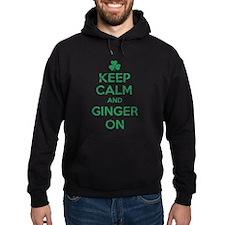 Keep Calm and Ginger On Irish Hoodie