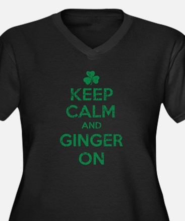 Keep Calm and Ginger On Irish Plus Size T-Shirt
