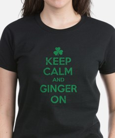 Keep Calm and Ginger On Irish T-Shirt