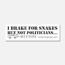 Brake for Snakes Not Politicians Car Magnet 10 x 3