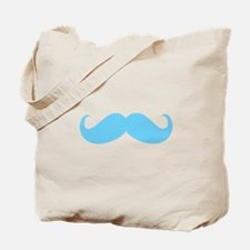 Baby-stache blue Tote Bag