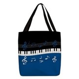 Music Polyester Tote Bag
