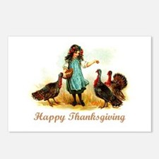 Vintage Farm Thanksgiving Postcards (Package of 8)