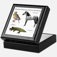 North Dakota State Animals Keepsake Box