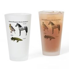 North Dakota State Animals Drinking Glass