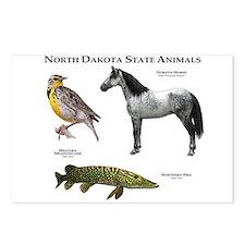 North Dakota State Animals Postcards (Package of 8