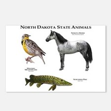 North Dakota State Animals Postcards (Package of 8