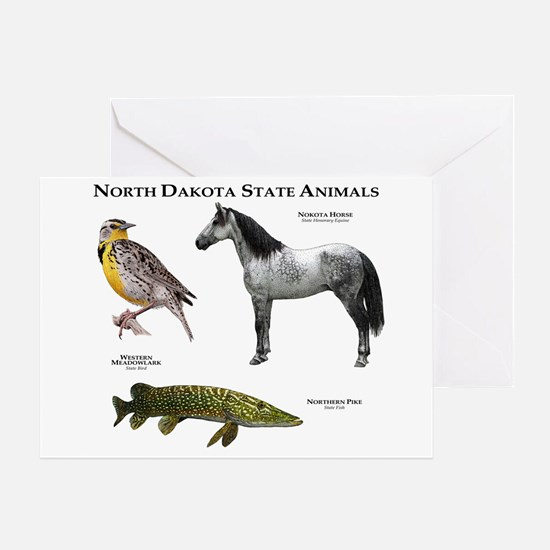 North Dakota State Animals Greeting Card