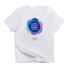 Lucky To Have Two Mommies Infant T-Shirt
