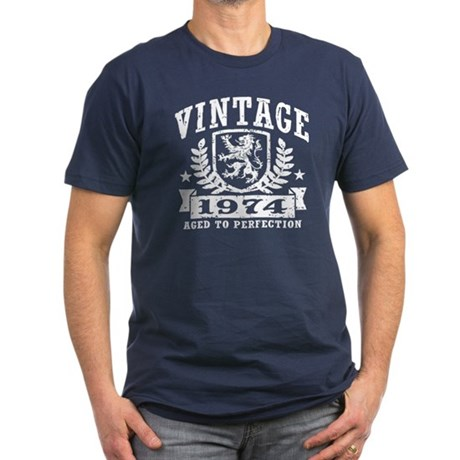 Vintage 1974 Men's Fitted T-Shirt (dark)