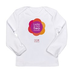 Lucky To Have Two Mommies Long Sleeve T-Shirt