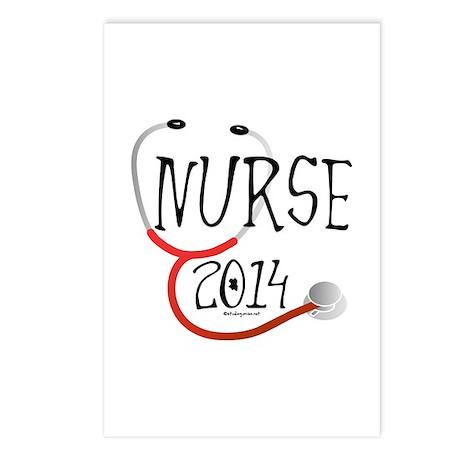 Nurse 2014 Stethoscope Postcards (Package of 8)