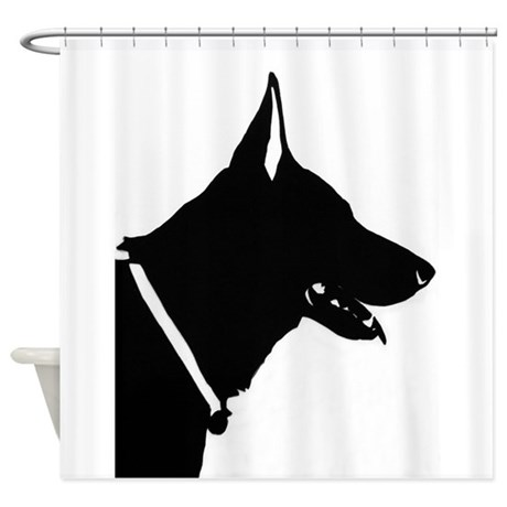 german shepherd silhouette shower curtain by zodiack9s. Black Bedroom Furniture Sets. Home Design Ideas