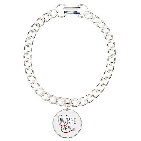 Nurse 2014 Stethoscope Charm Bracelet, One Charm