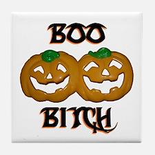 Boo Bitch Halloween Tile Coaster