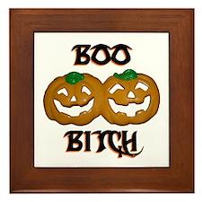 Boo Bitch Halloween Framed Tile