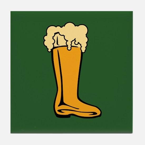 Beer Boot Tile Coaster
