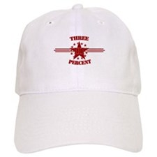 Three Percent Red Baseball Baseball Cap