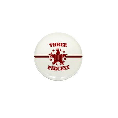 Three Percent Red Mini Button (10 pack)