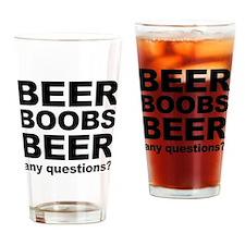 beer boob Drinking Glass
