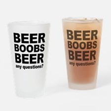 beer boob Drinking Glass