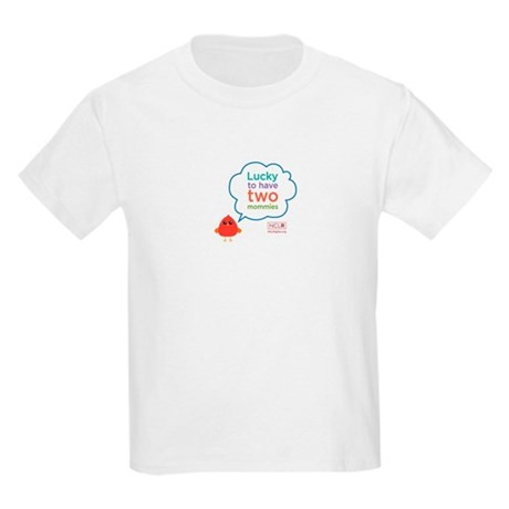 Lucky To Have Two Mommies Kids T-Shirt