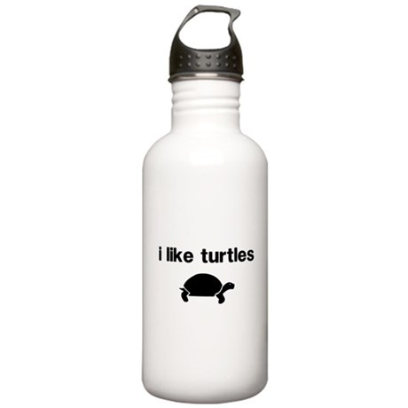 I Like Turtles Water Bottle