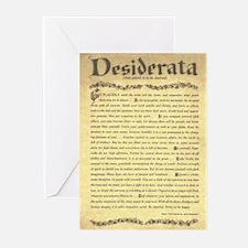 The Desiderata Poem by Max Ehrmann Greeting Cards