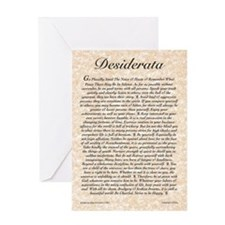 The Desiderata Poem by Max Ehrmann Greeting Card
